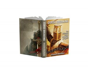 Curse Breaking book stand open white background #1